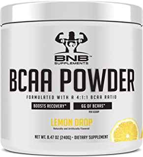 4:1:1 BCAA Branched Chain Amino Acids Powder - Lemon Flavor - 30 Servings - 6 Grams Per Serving - Boost Recovery - Pre and Post Workout Formula - 4 Grams of Leucine - by BNB Supplements