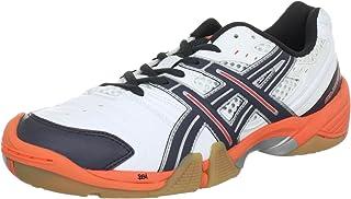 ASICS 凝胶 - 域 e266y 男士手球鞋 Weiß (White/Titanium/Neon Orange 197) 40.5 EU