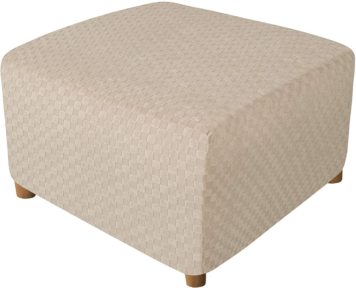 Easy-to-use Square Ottoman Max 45% OFF Slipcovers Detachable Footstool Protector Jacquar