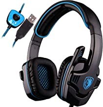 [New Updated PC Gaming Headset] SADES SA901 USB Wired Gaming Headset 7.1 Surround Stereo Headphones with Microphone Deep Bass Volume Controller