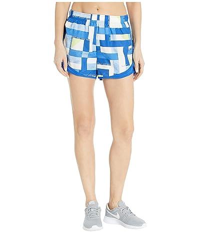 Nike Tempo Shorts Geo Print (Game Royal/Grey) Women