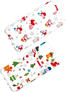 حافظة هاتف شفافة من Balacoo Christmas Phone Case Cover Santa Claus Snowman للهواتف المحمولة شل هدية متوافقة مع آيفون 11/11pro