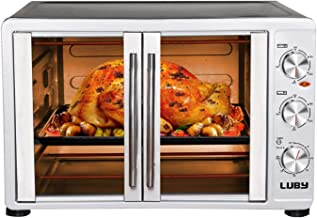 LUBY Large Toaster Oven Countertop, French Door Designed, 18 Slices, 14''..