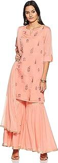 Rangmanch By Pantaloons Women's Cotton a-line Salwar Suit Set
