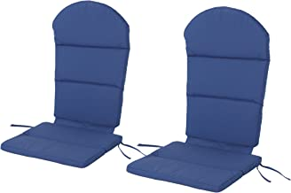 Christopher Knight Home 304638 Terry Outdoor Adirondack Chair Cushion (Set of 2), Navy Blue