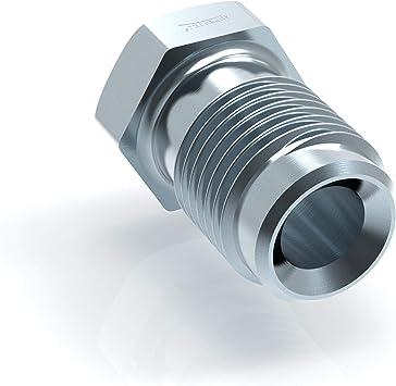 6x Verbinder M10 x 1 für Bremsleitung 4,75 mm Bördel F Typ OAA DIN//ISO 1651