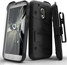 ZIZO Bolt Series Motorola Moto g4 Play Case Military Grade Drop Tested with Tempered Glass Screen Protector, Holster Black