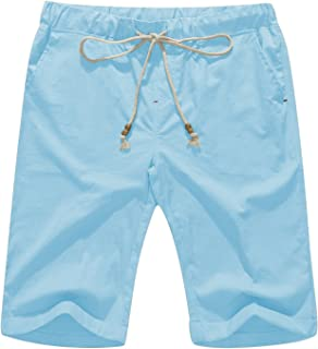 Janmid Men's Linen Casual Classic Fit Short