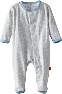 Magnificent Baby Girls Magnetic Fastener Cotton Footie Pajamas