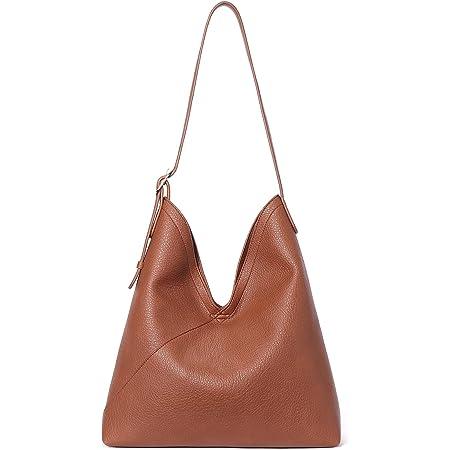 BOSTANTEN Damen Leder Handtasche Schultertaschen Hobo Taschen Designer Ledertasche Shopper Beuteltasche Braun