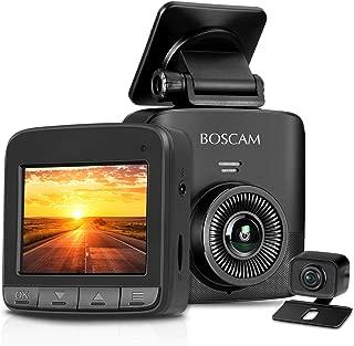 Máy thâu hình đặt trên xe ô tô – Dual Dash Cam, 1520P Dash Cam, 2.7K FHD Front Camera & AHD Rear Camera, Car Camera Recorder BOSCAM S1