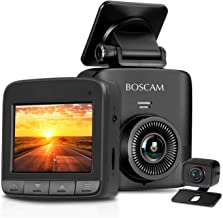 Dual Dash Cam, 1520P Dash Cam, 2.7K FHD Front Camera & AHD Rear Camera, Car Camera Recorder BOSCAM S1