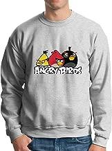HsHdesign Angry Birds Game Graphic Men Sweatshirts Printed Loose Hoodie in 4 Colors