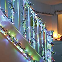 WED 400 LED Twinkle Lights,Christmas Cluster Lights 23 Foot with Multi Color Lights with 8 Twinkle Function for Christmas Decor Trees Parties Bedroom