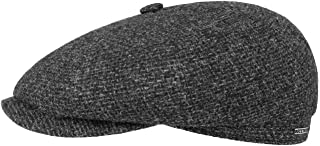 Stetson Casquette Hatteras Shetland Wool Homme - Made in The EU Gavroche Laine pour l'hiver avec Visiere, Doublure Automne...