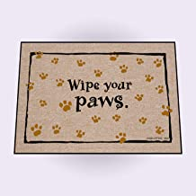 product image for High Cotton Wipe Your Paws Doormat, Black