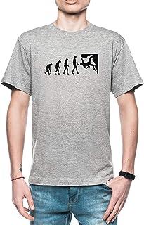 Rundi Evolución Alpinismo Hombre Camiseta Gris Todos Los Tamaños - Men's T-Shirt Grey
