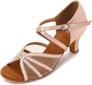 CLEECLI Women's Ballroom Dance Shoes Latin Salsa Practice Dancing Shoes 2.5