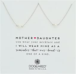 Dogeared Mother & Daughter, 2 Small Pearl Necklace