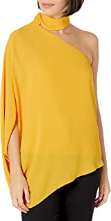 Halston Heritage Womens Crepe Halter Shirt Tunic Top Blouse BHFO 2615