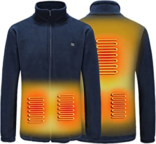 Thermal Electric Heating Underwear Top, Winter Long Thermal Suit Basic Layer Top, USB Electric Heating to Keep Warm