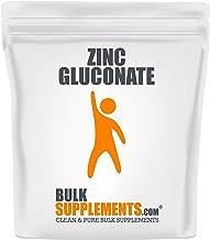 BulkSupplements Zinc Gluconate Powder (1 Kilogram)