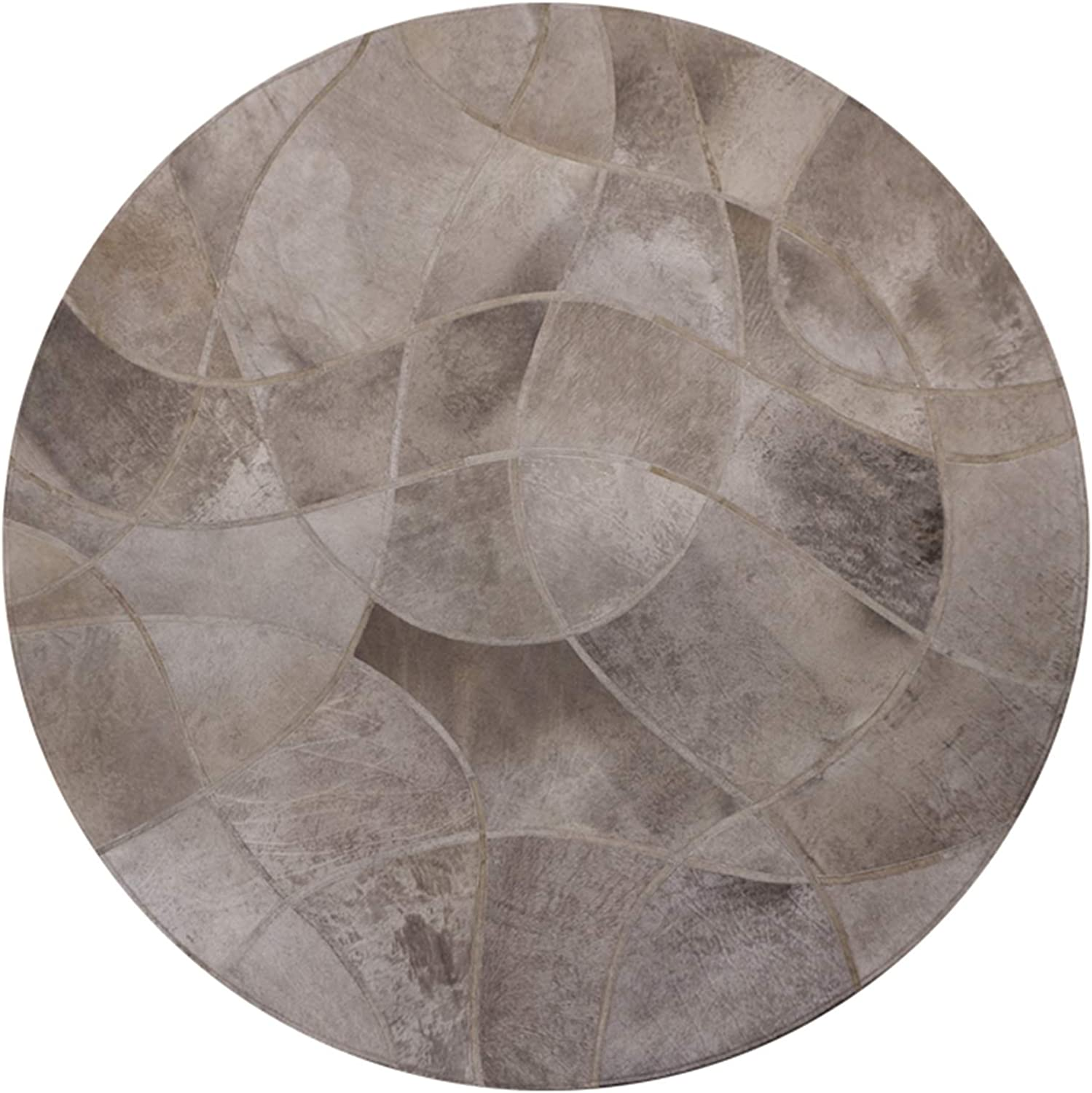 QDY Free shipping Natural Leather Area Rugs Living Table Today's only Room Coffee Mat Sofa