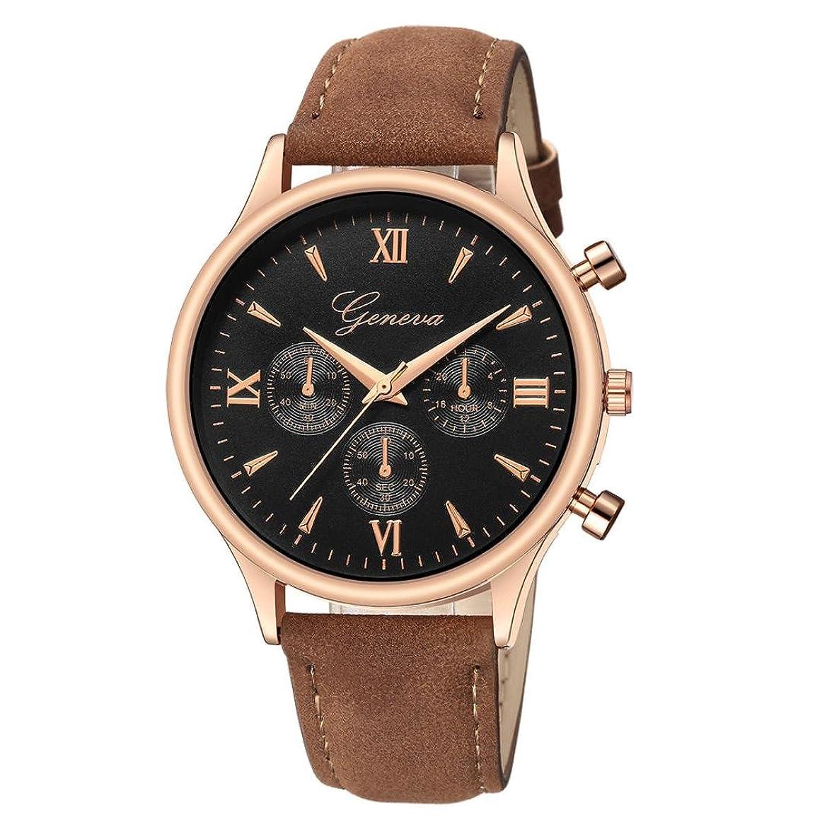 がっかりした責め犠牲paymenow Clearanceメンズ腕時計、メンズ2018ファッションクロノグラフウォッチレザーバンドアナログクォーツ腕時計