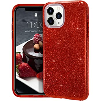 MATEPROX iPhone 11 Pro Max case,Bling Sparkle Cute Girls Women Protective Case for iPhone 11 Pro Max 6.5inch(Red)