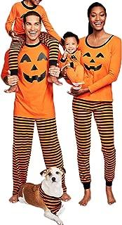 Family Matching Halloween Pajamas Set Pumpkin Sleepwear Homewear Nightwear for Dad Mom Kid