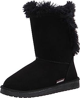 MUK LUKS womens Pull Fashion Boot, Black, 9 US