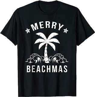 Merry Beachmas Palm Tree Beach Christmas Tshirt