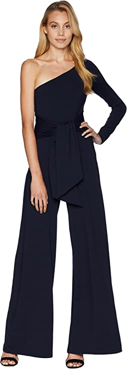 One Shoulder Sleeve Jumpsuit