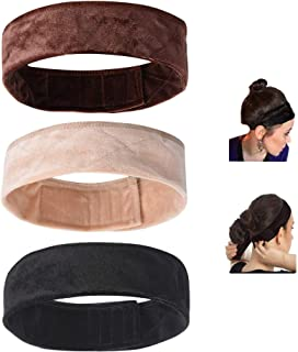 sansheng 3PCS Wig Grip Flexible Velvet Headband Scarf Head Hair Band Extra Hold Wig Adjustable Fastern,Stretch Cotton head...