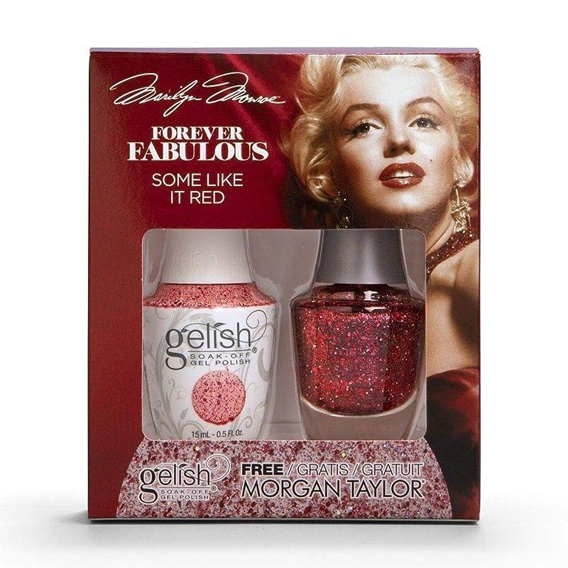 占めるサスペンション革命Harmony Gelish & Morgan Taylor - Two Of A Kind - Forever Fabulous Marilyn Monroe - Some Like It Red - 15 mL / 0.5 Oz