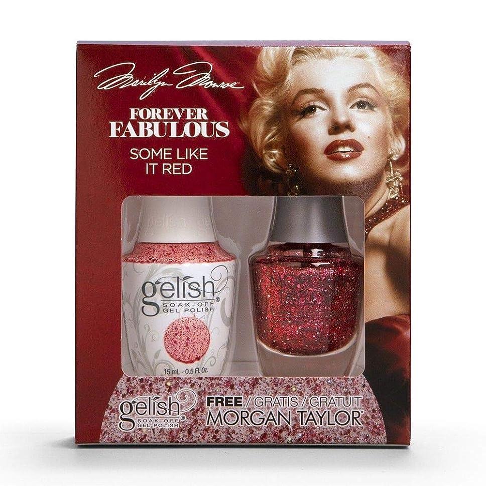 生まれ誘惑交換Harmony Gelish & Morgan Taylor - Two Of A Kind - Forever Fabulous Marilyn Monroe - Some Like It Red - 15 mL / 0.5 Oz