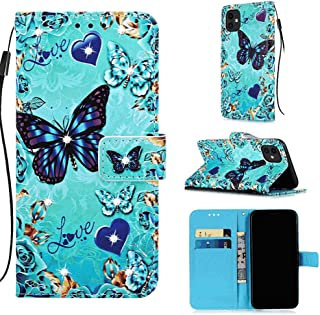 Leather Flip Case Fit for iPhone 11 Pro Max, butterfly2 Wallet Cover for iPhone 11 Pro Max