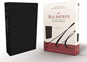 The NKJV, MacArthur Study Bible, 2nd Edition, Leathersoft, Black, Comfort Print: Unleashing God's Truth One Verse at a Time