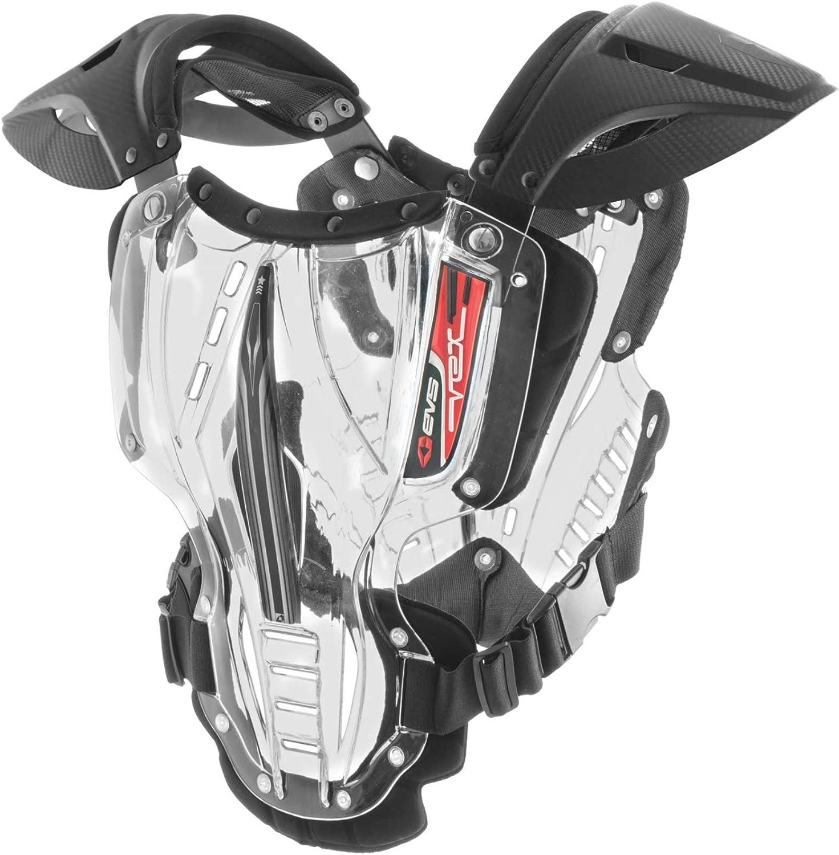 M Medium EVS Vex Chest Protector Hard Armour Motorcross Clear Black