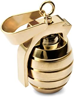 MENDINO Mens Stainless Steel Grenade Pendant Cool with a 22 inch Chain