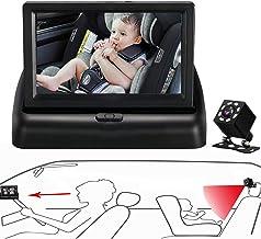 آینه اتومبیل کودک Itomoro ، نمایش کودک در صندلی رو به عقب با دید واضح و شفاف ، دید در شب ، دوربین با هدف کودک برای مشاهده هر حرکت کودک به راحتی