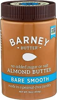 Barney Almond Butter, Bare Smooth, No Sugar No Salt, Paleo, Keto, Non-Gmo, Skin-Free, 16 Oz