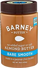 Barney Almond Butter, Bare Smooth, No Sugar No Salt, Paleo, Keto, Non-Gmo, Skin-Free, 16 Oz