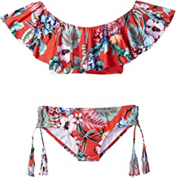 Seafolly Kids - Jungle Paradise Ruffle Tankini Set (Little Kids/Big Kids)