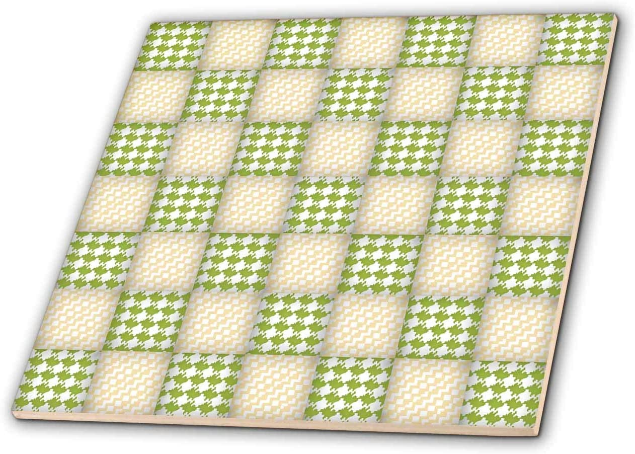 3dRose Cute Squares Weekly update Of Green Max 53% OFF Yellow and Stri Chevron Houndstooth