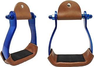 PRORIDER Stirrups para cavalos de corrida de barril de alumínio caubói 5175RB