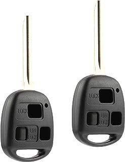 Key Fob Keyless Entry Remote Shell Case & Pad fits 1998-2007 Toyota Land Cruiser / 2008-2009 Toyota FJ Cruiser (HYQ1512V, 89070-60090), Set of 2,