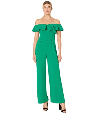 Calvin Klein Off Shoulder Ruffle Neck Jumpsuit (Meadow) Women