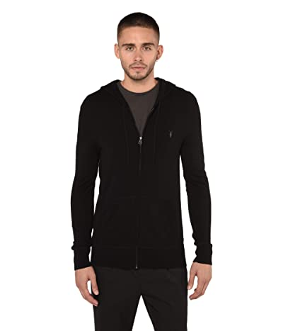 AllSaints Mode Merino Zip Hoodie (Black) Men