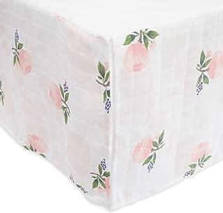 Little Unicorn Cotton Muslin Crib Skirt - Watercolor Rose